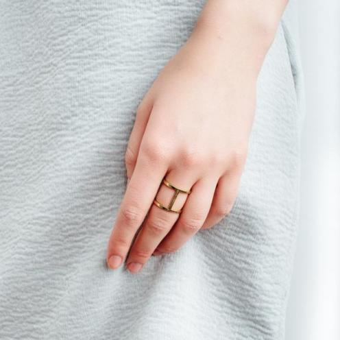 Cylinder Ring Yellow Gold, AUrate New York