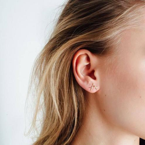 Icon Earrings Yellow Gold, AUrate New York